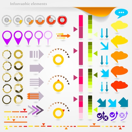 wholesale: Collection of vector inforgaphic elements