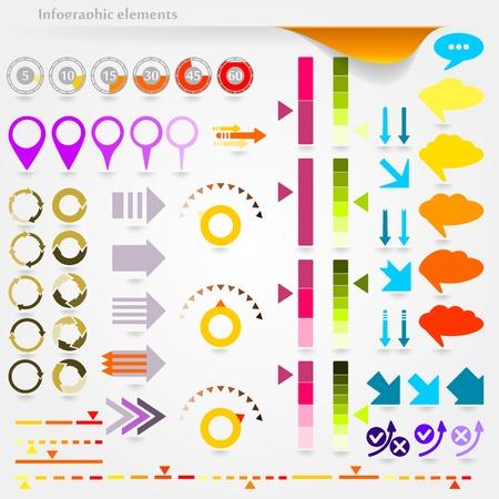 Verzameling van vector inforgaphic elementen Stock Illustratie