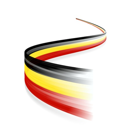 Abstract Belgian waving flag isolated on white background