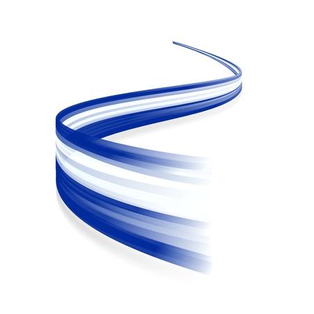 Abstracte Griekse golvende vlag geïsoleerd op witte achtergrond Stock Illustratie
