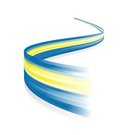 sverige: Abstract Swedish waving flag isolated on white background Illustration