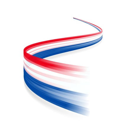 白い背景で隔離の旗を振って抽象的なオランダ語