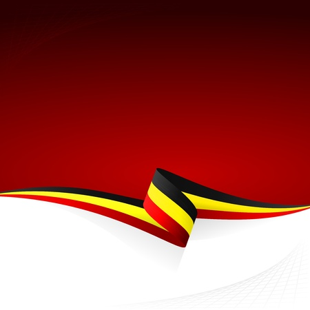 Abstract color vector background Belgian flag Vector