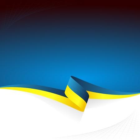 Abstracte kleur vector achtergrond Oekraïense vlag