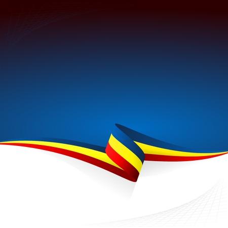 Abstracte kleur vector achtergrond Roemeense vlag Stock Illustratie