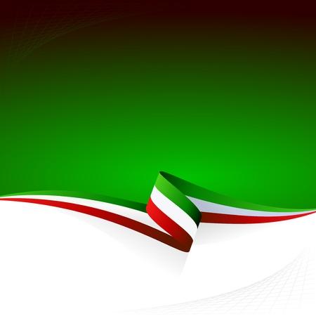 flag: Abstracte kleur vector achtergrond Italiaanse vlag Stock Illustratie