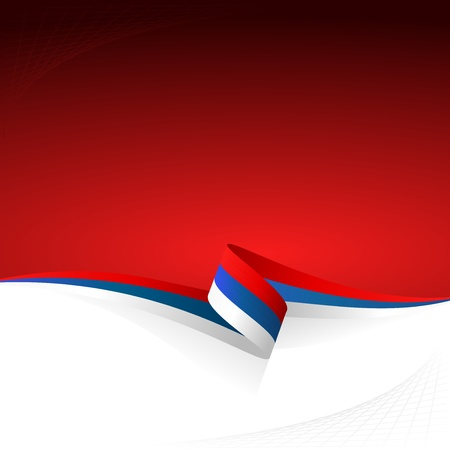Abstract color vector background Russian flag Vector