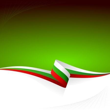 Abstract color vector background Bulgarian flag Illustration