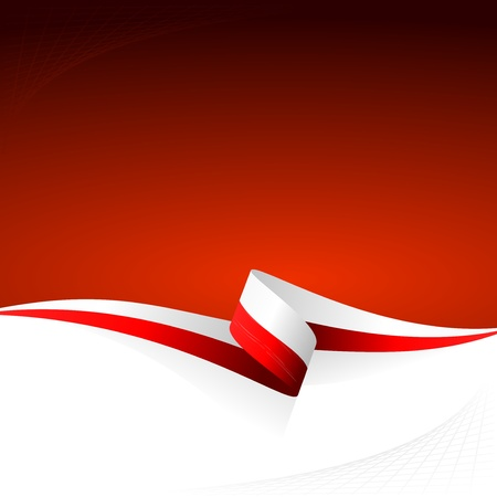 polska: Abstract color vector background Polish flag Illustration