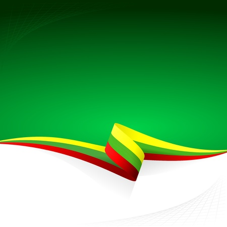 Abstract color vector background Lithuanian flag Vector