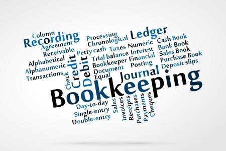bookkeeping: Contabilidad nube de palabras con fondo de hoja de datos
