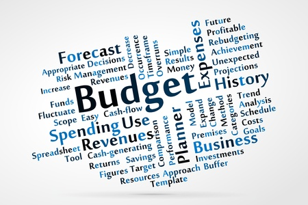 Budget word cloud Stock Vector - 21176632