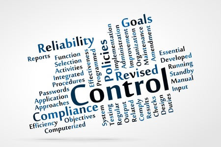 compliance: Control word cloud with data sheet background