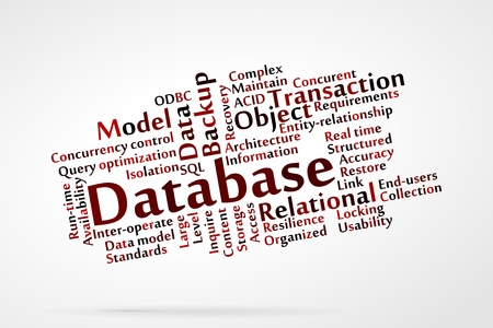 concurrent: Database word cloud Illustration