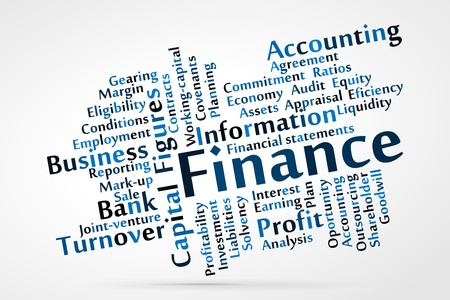 Finance word cloud Stock Vector - 21176648