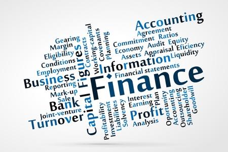 ELIGIBILITY: Finance word cloud