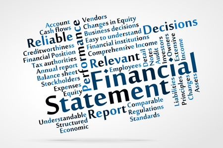 Financial Statement Word Cloud Royalty Free Cliparts, Vectors, And