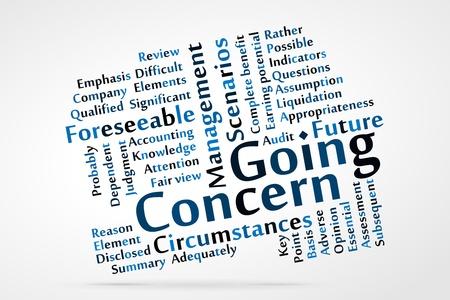 preocupacion: Empresa en marcha nube de palabras
