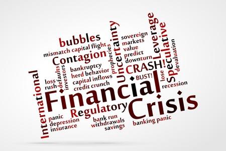 Financial Crisis word cloud Stock Vector - 21212231
