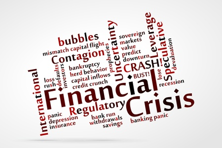 Financial Crisis word cloud Stock Vector - 21212231