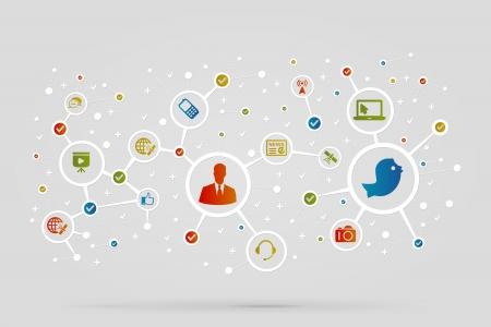 Communication des icônes résumé vecteur de fond Banque d'images - 21221216