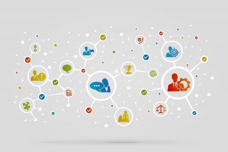 conectar: Empleados S�mbolos de negocios de vectores de fondo abstracto Vectores