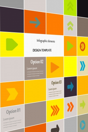 plain button: Inforgaphic arrows icon set abstract background
