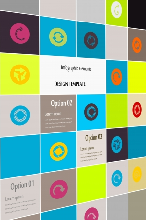 Inforgaphic arrows icon set abstract background Vector