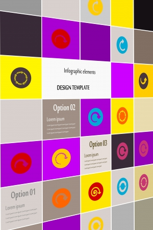 Inforgaphic arrows icon set abstract background Stock Vector - 21360818