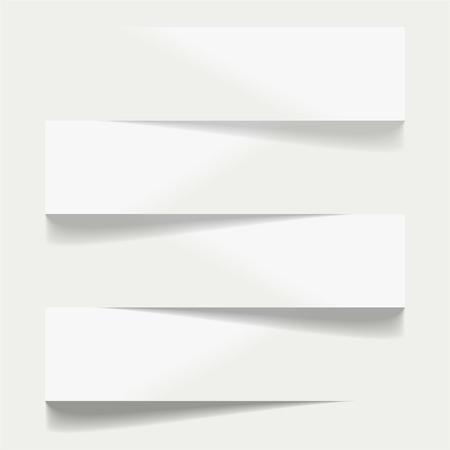 shelfs: Four advertising shelfs with shadows