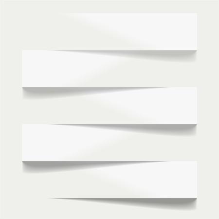 Five advertising shelfs with shadows Illustration