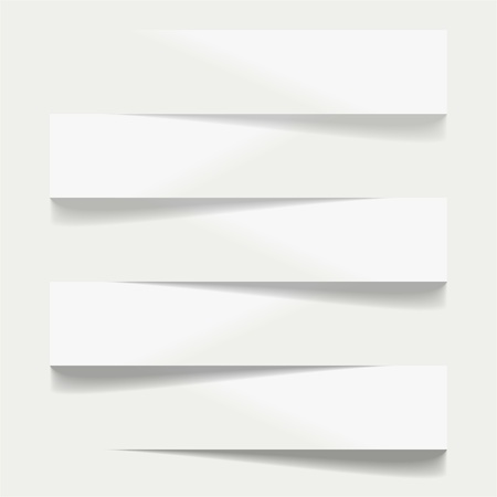 shelfs: Five advertising shelfs with shadows Illustration