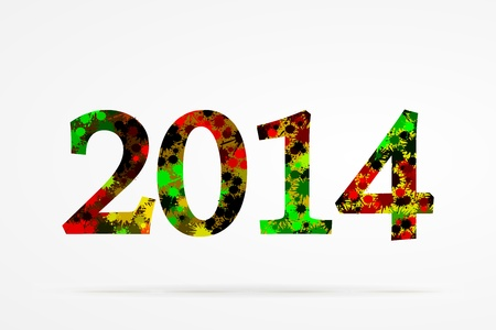 new years resolution: 2014 abstract splash background Illustration
