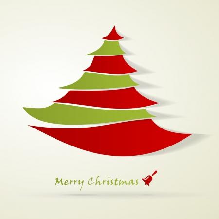 Christmas tree and Marry Christmas abstract card Stock Vector - 21360873