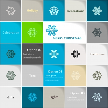 Christmas icon set abstract background Stock Vector - 21635186