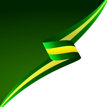 Abstract color background Brazilian flag  Illustration