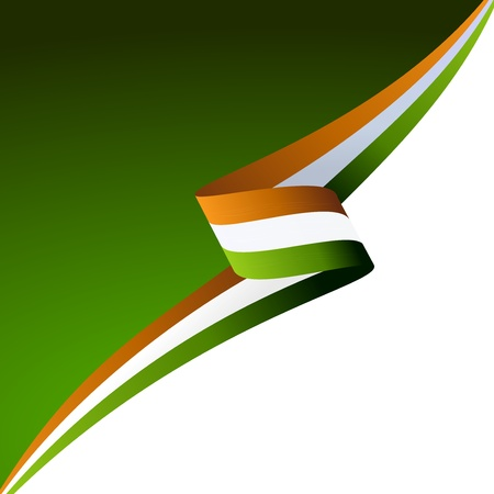 irish banners: Abstract color background Irish flag