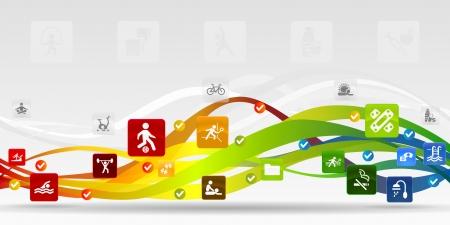 健康のモバイル アプリケーションの抽象的な背景  イラスト・ベクター素材