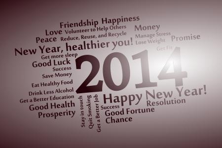 2014 abstracte woordwolk achtergrond Stock Illustratie