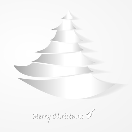 Christmas tree and Marry Christmas abstract card Stock Vector - 21635428