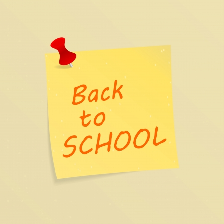 Back to school sketched on a post-it Stock Vector - 21635429
