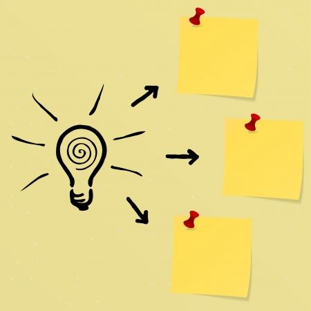 found it: Idea concept on a notice board Illustration