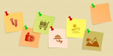 week end: Icono de vacaciones ubicado esbozada en publicar su Vectores