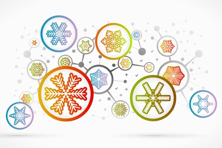 Christmas icon set vector abstract background Stock Vector - 21760681