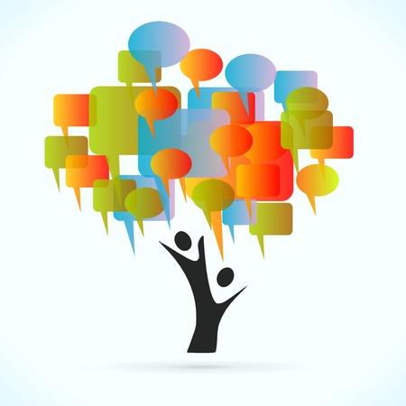 altruism: Árbol Comunicación ilustración vectorial concepto