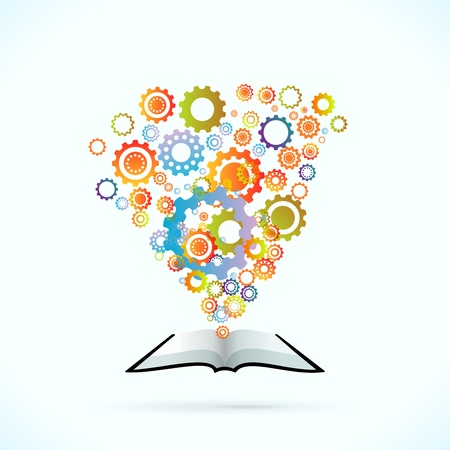 synergie: Synergy Buch Konzept Vektor-Illustration