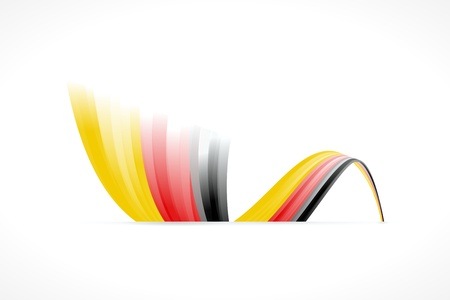 Abstract German waving flag isolated on white background Illustration