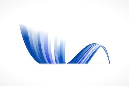 eu flag: Abstract European waving flag isolated on white background Illustration