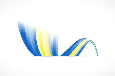 sverige: Abstract Swedish waving flag isolated on white background Illustration
