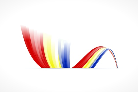 romania flag: Abstract Romanian waving flag isolated on white background